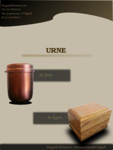 Urne in ferro e in legno_cremazioni napoli